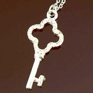 Betsey Johnson Silver Key Necklace